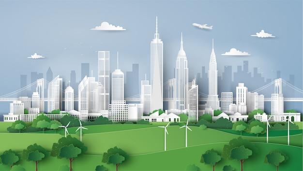 Panorama van de skyline van de stad