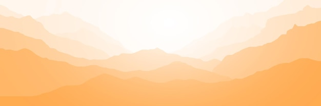 Panoramisch uitzicht op berglandschap in ochtendlicht