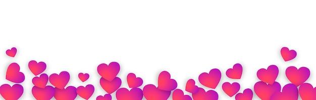 Panoramische valentijnsdag banner