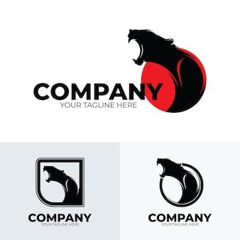 Panter brullende logo ontwerp inspiratie
