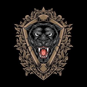 Panter hoofd illustratie