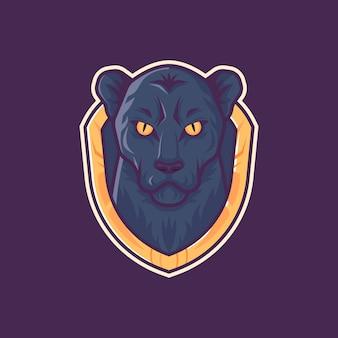 Panter met mascotte-logo