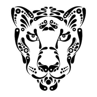 Panter tattoo, symbool decoratie illustratie