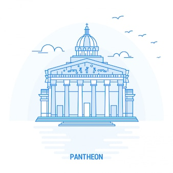 Pantheon blue landmark