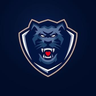 Panther esports logo-sjablonen