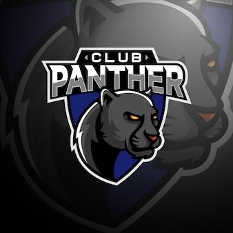 Panther hoofd logo gaming esport