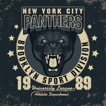 Panther illustratie embleem