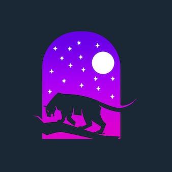 Panther logo-sjablonen