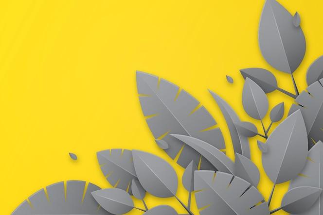 Pantone 2021 laat achtergrond in papieren stijl achter