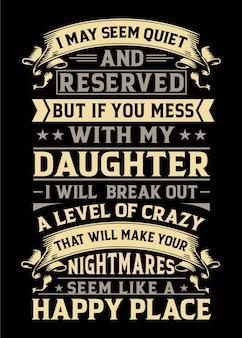 Papa en dochter typografie