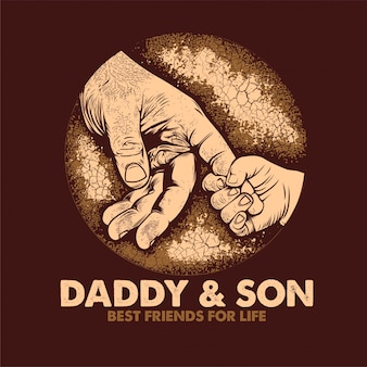 Papa & zoon beste vrienden voor het leven poster