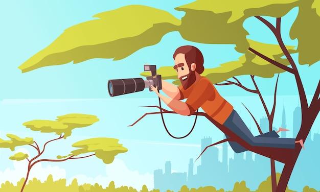 Paparazzo op werk samenstelling