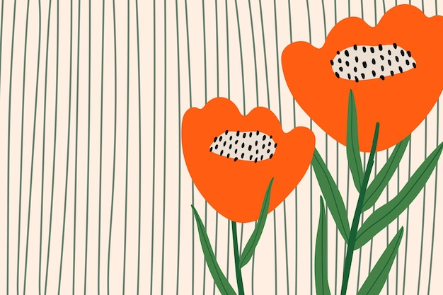 Papaver bloem patroon vector achtergrond