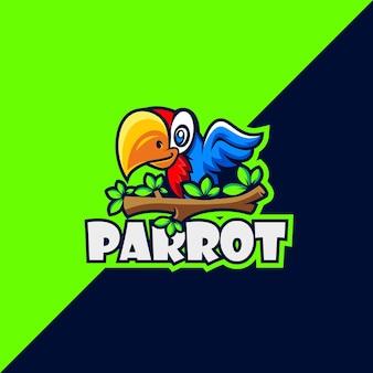 Papegaai cartoon logo