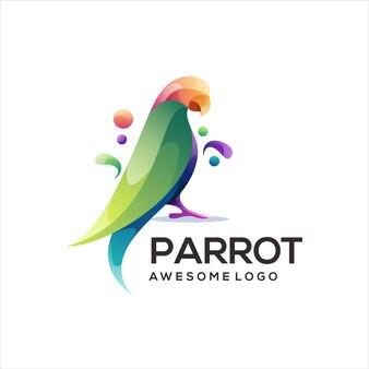 Papegaai kleurrijke logo verloop illustratie
