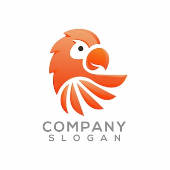 Papegaai logo ontwerp