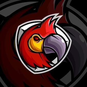 Papegaai mascotte ontwerp