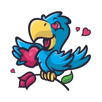 Papegaai verliefd