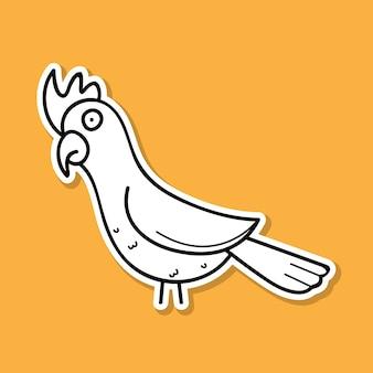 Papegaai vogel sticker