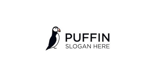 Papegaaiduiker silhouet logo ontwerpsjabloon