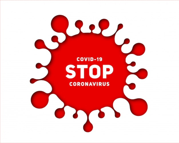 Paper art-uitbraak van coronavirusziekte covid-19