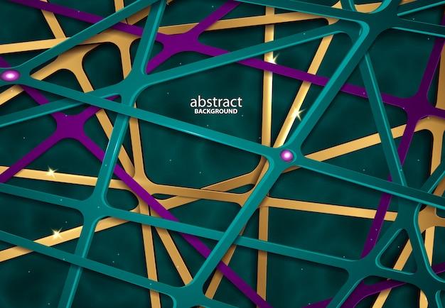 Papercut abstracte 3d blauwe achtergrond