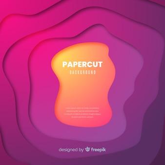 Papercut achtergrondkleur
