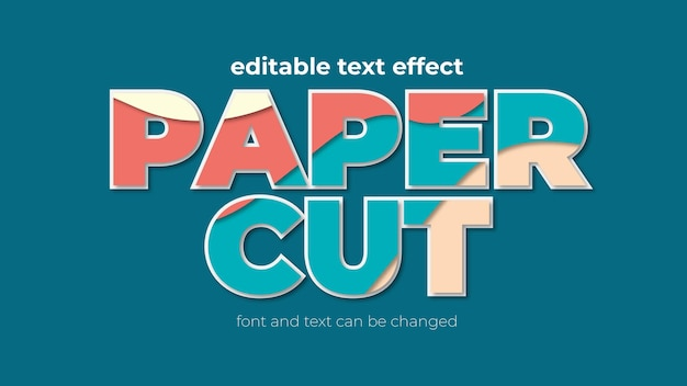 Papercut eps bewerkbaar teksteffect
