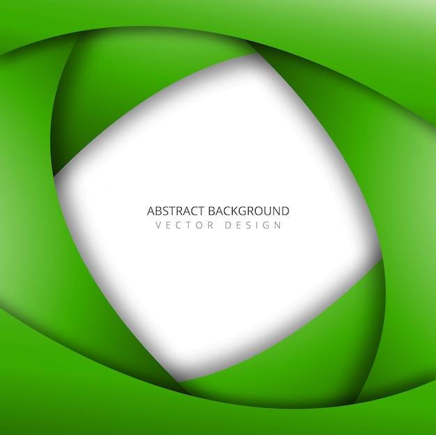 Papercut groene golfvector als achtergrond