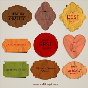 Papier badges template lay-out