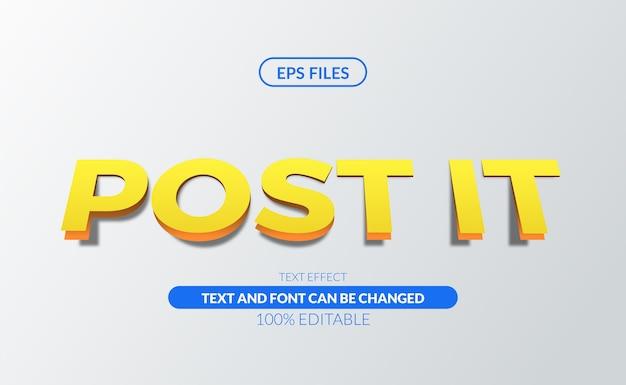 Papier bewerkbaar post-it belangrijk bewerkbaar teksteffect eps-bestand