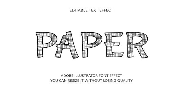 Papier bewerkbaar teksteffect