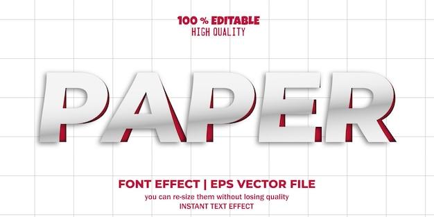 Papier bewerkbare lettertype teksteffectstijl