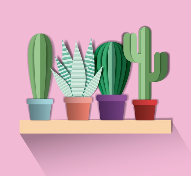 Papier cactus digitale vaartuig