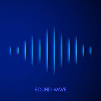 Papier geluidsgolfvorm met schaduw