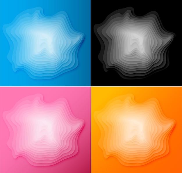 Papier gesneden achtergrond abstract realistisch papercut decoratie getextureerd d topografie reliëf vector illu...