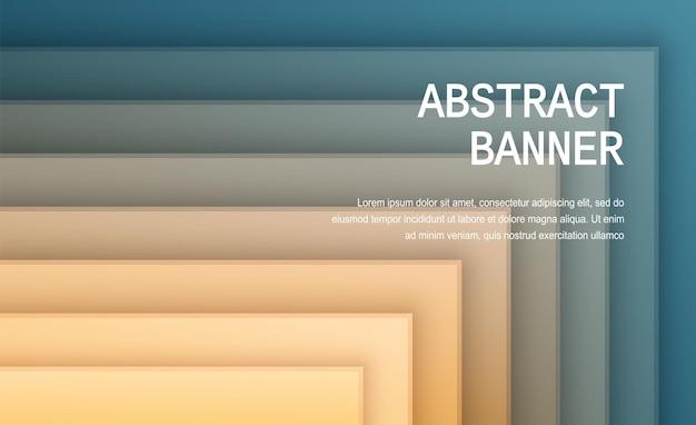 Papier gesneden achtergrond abstract realistisch papier decoratie ontwerp golvende gradiënt van groen en geel