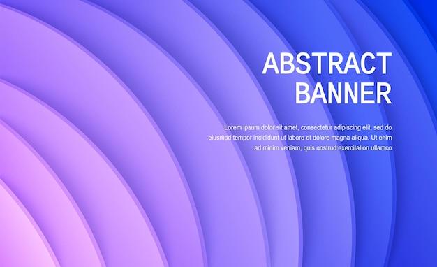 Papier gesneden achtergrond abstracte realistische papieren decoratie voor ontwerp golvend verloop