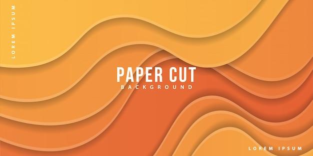 Papier gesneden gele achtergrond
