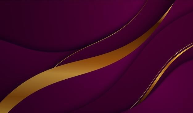 Papier gesneden luxe gouden achtergrond metalen textuur 3d abstract modern