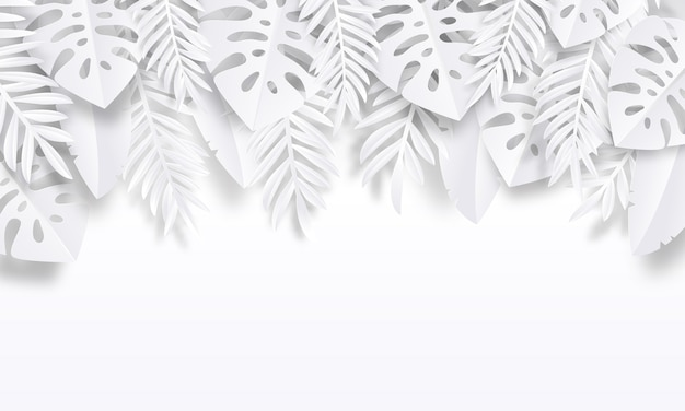 Papier gesneden tropische achtergrond illustratie