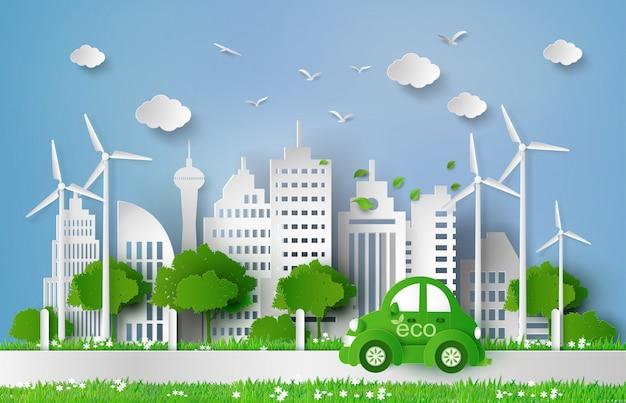 Papier gesneden van eco-concept.