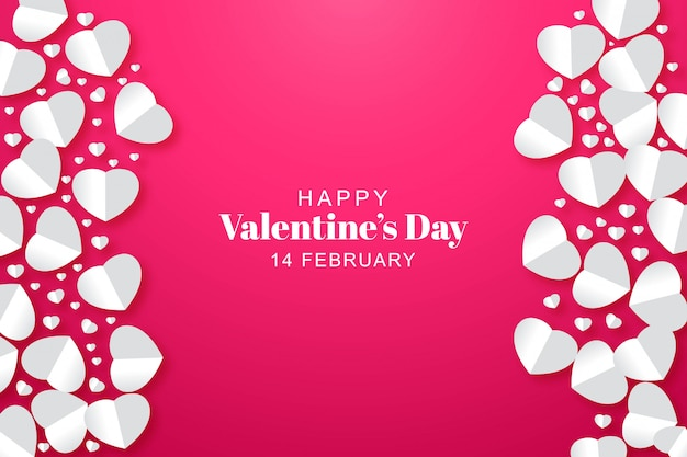 Papier harten valentijnsdag kaart