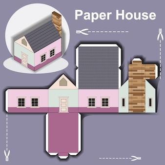 Papier huis sjabloon