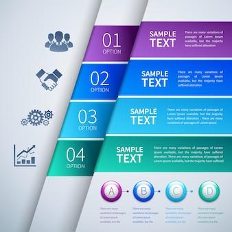 Papier infographics sjabloon
