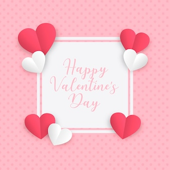 Papier liefdesframe voor valentijnsdag