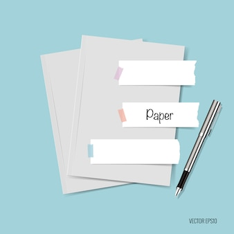 Papier met kleverige notities