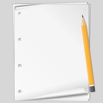 Papier met potlood