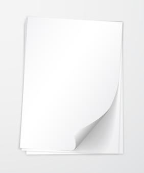 Papier met schaduwsjabloon,.