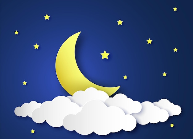 Papier nachtelijke hemel